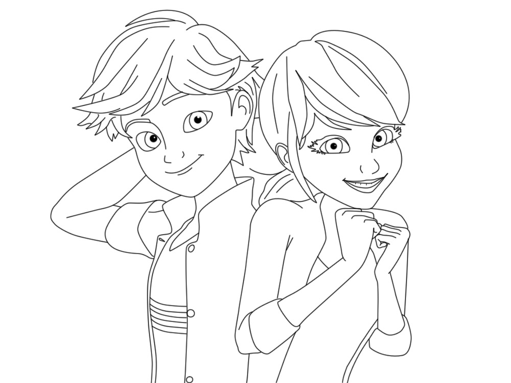 Dibujos para colorear de ladybug y cat noir for Coloring pages ladybug