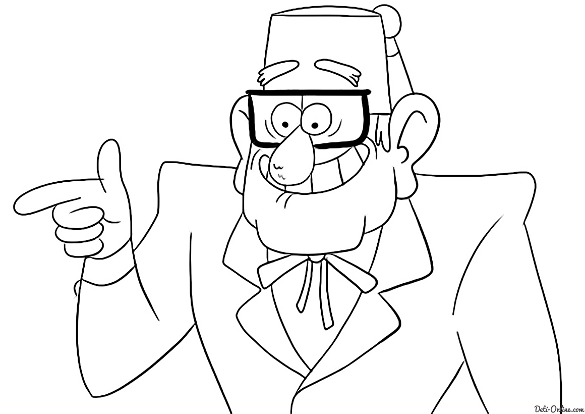 Dipper Gravity Falls Coloring Pages Coloring Pages