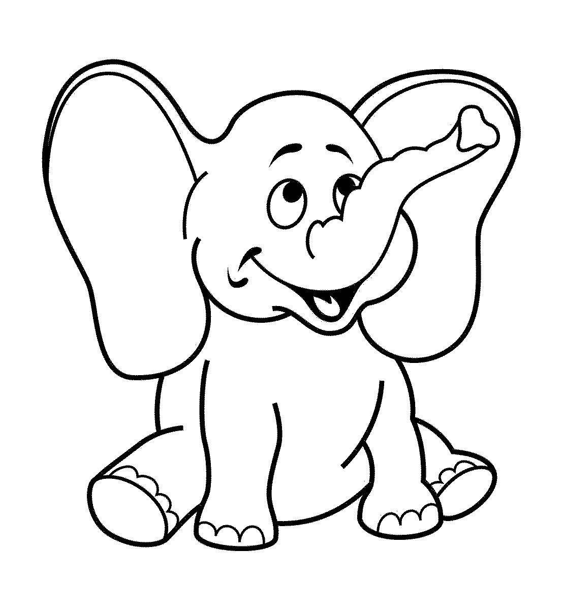 Dibujos de elefantes tiernos para colorear for Christmas coloring pages for 9 year olds