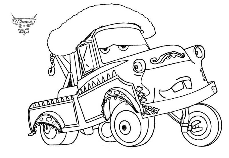 cars toons coloring pages - photo#2